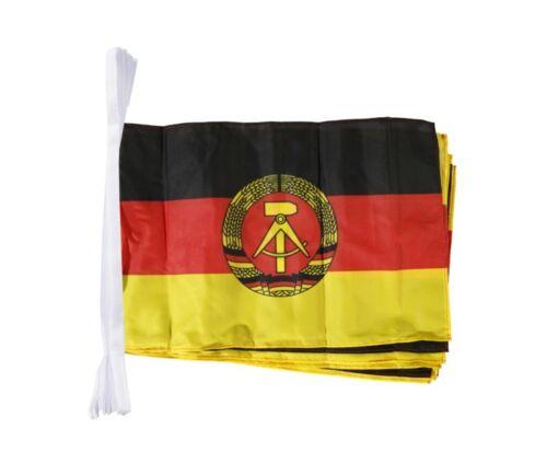 Fahnenkette Flaggenkette Girlande Deutschland DDR Fahnen Flaggen 30x45cm