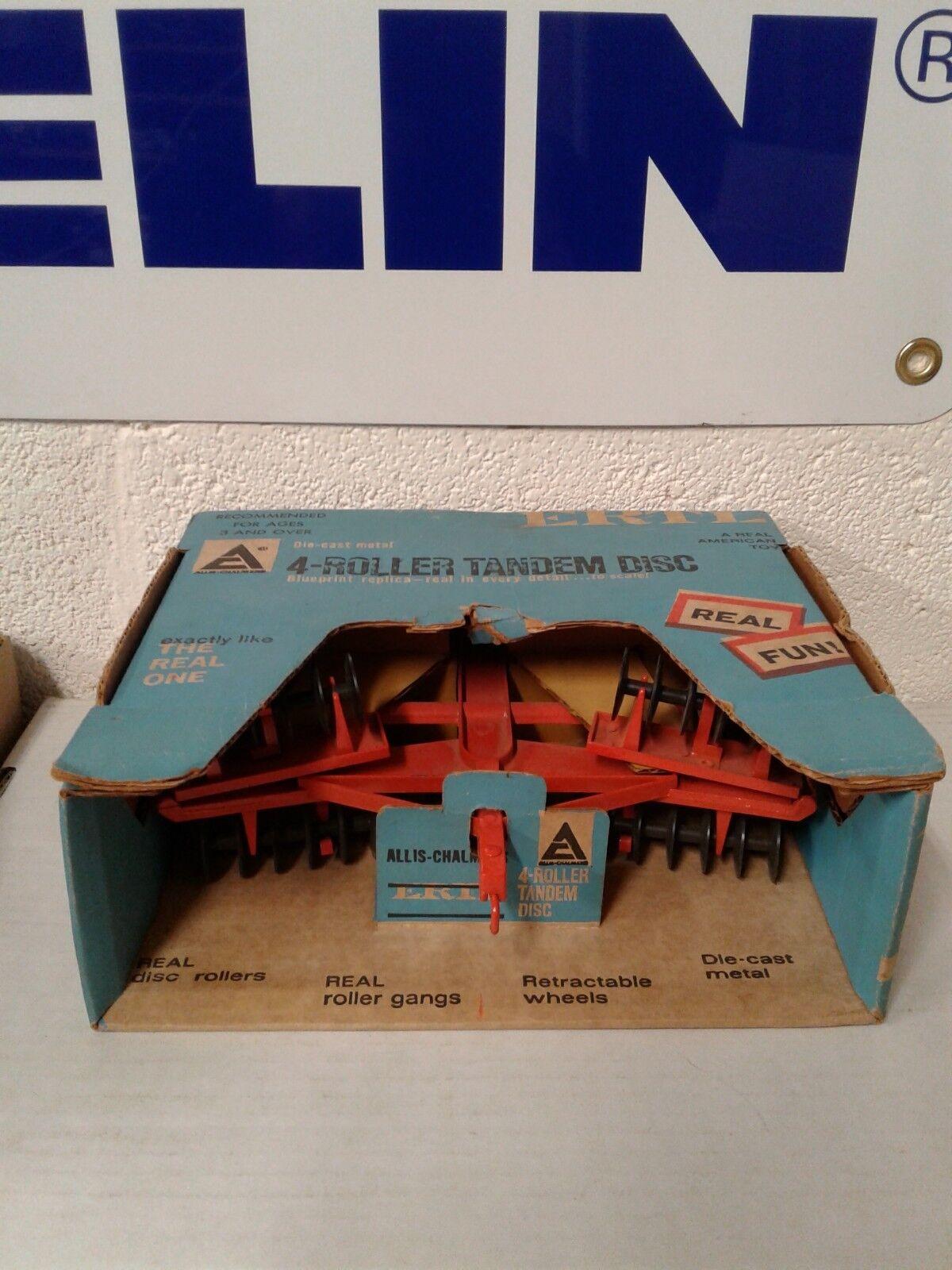 1 16 ERTL Farm Toy ALLIS CHALMERS 4 Rouleau Tandem Disc disque en boîte bleue