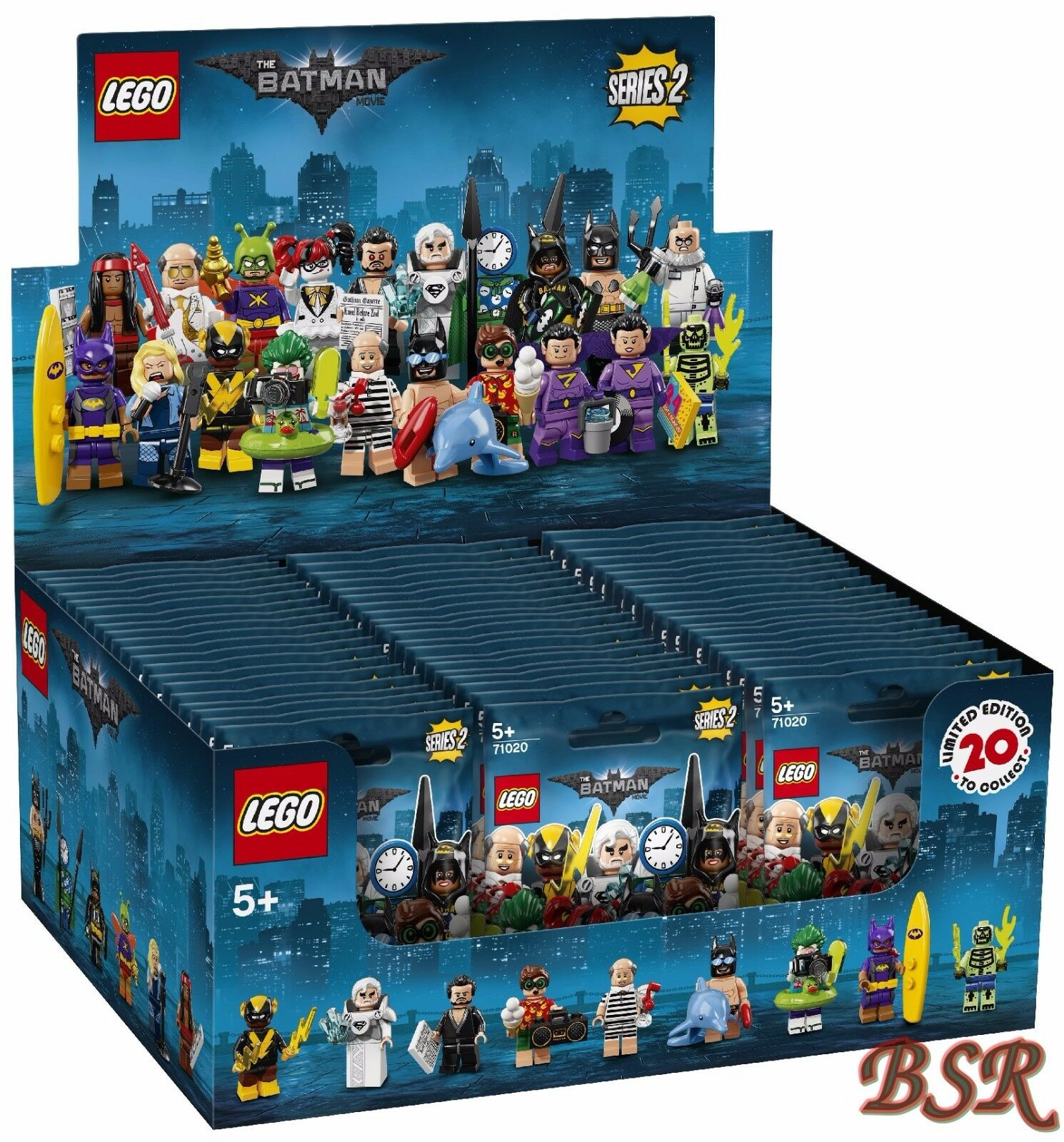 71020 LEGO ® Complet Display Scellé The Batman Movie 60 pochettes 0. - Expédition