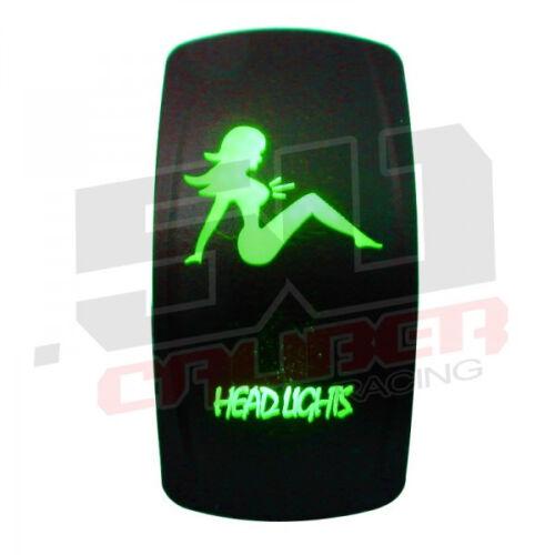 Head Lights Green Rocker Switch On/Off for Can Am Maverick Commander Polaris UTV