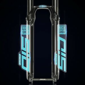 Rock Shox 2021 SID LUXE ULTIMATE Rear Shock Decal Sticker Blue