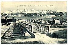 CPA 38 Isère Grenoble Le Pont du Drac et Chaîne des Alpes