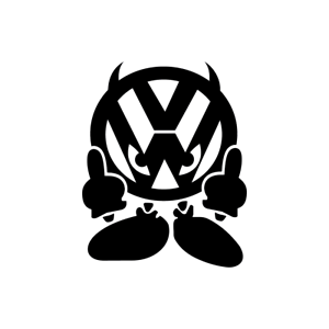 VW Flip Finger Funny Decal Vinyl Sticker JDM Euro Drift Lowered Stance Illest
