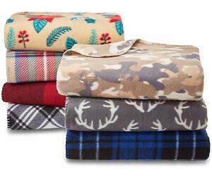 Essential-Home-Soft-Fleece-Throw-Blanket-60-034-X-50-034-Warm-Plaid-Cozy-Decor-Gift
