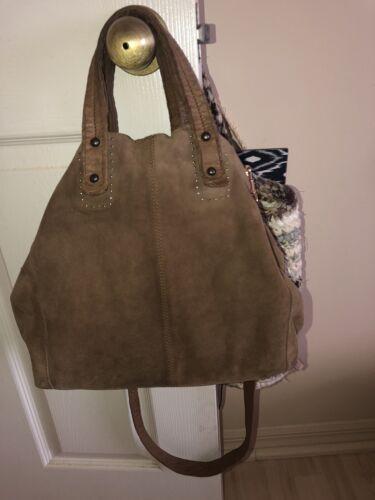 Free People Bohemian Suede Handbag - Medium Brown