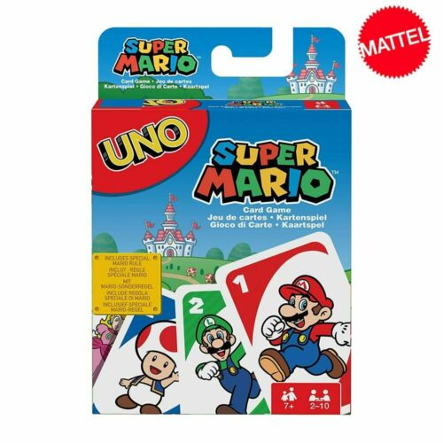 Mattel Games UNO Super Mario Card Game Family Funny Entertainment Board Game Pok