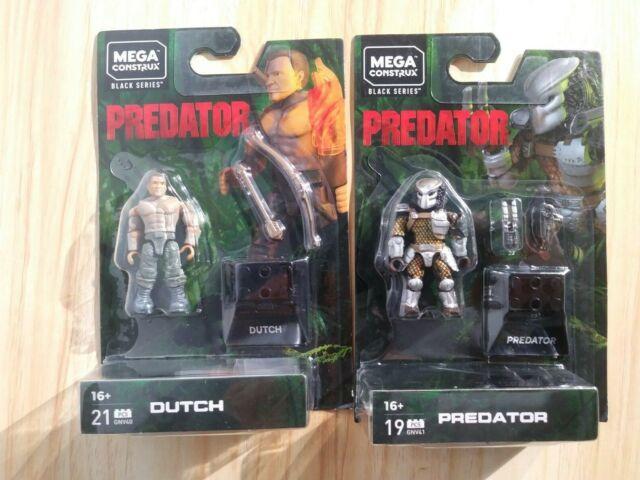 NEW MEGA CONSTRUX BLACK SERIES  Predator Figures Dutch & Predator Figure Set