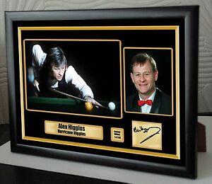 Alex-Higgins-World-Champion-Snooker-Framed-Canvas-Print-Signed-034-Great-Gift-034
