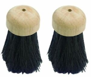 2 Replacement Round Companion Set Hearth Fireplace Brush