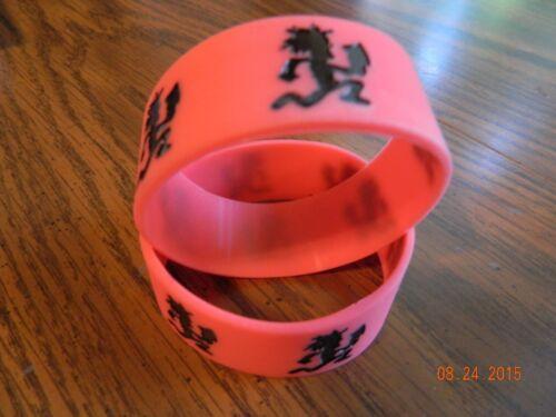 ICP INSANE CLOWN POSSE  Hatchetman rubber wristbands 2-piece set NEW red//blk