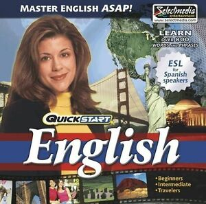 QuickStart-English-AUDIO-2-CDs-Learn-English-Quickly-Brand-New-Sealed