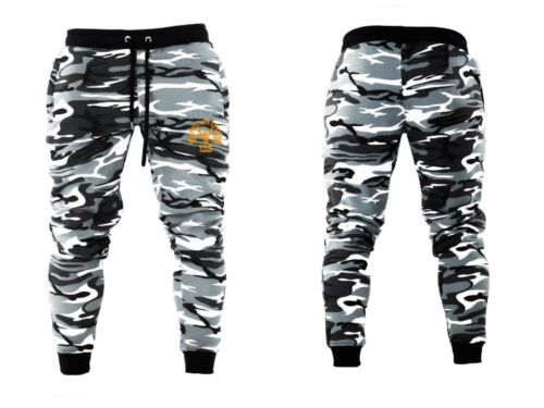 Unisex Muscle Fit Muscle Gym Joggers Fitness Training Pants Camoflage Bottom