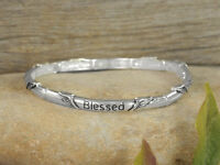 Blessed Religious Angel Wings Faith Christian Stackable Stretch Bracelet 406-a