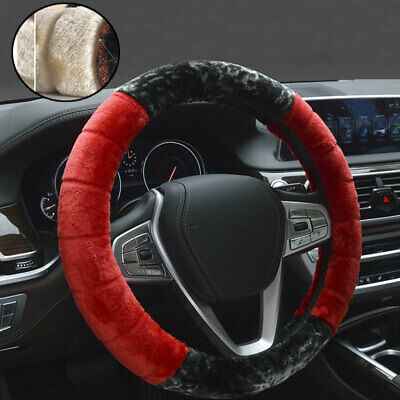 Warm Plush Steering Wheel Cover Kit Winter Furry Fluffy Soft Plush Car Wheel UK