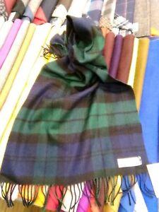 100-Lambswool-Wide-Scarf-Lochcarron-Made-in-Scotland-Black-Watch-Tartan