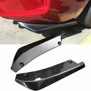 2x-Universal-Car-Rear-Bumper-Spoiler-Canards-Diffuser-Side-Fin-Scratch-Protector