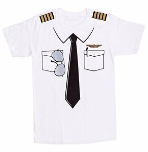 b134904b The Pilot Uniform T-Shirt, Fake Airline Pilot Tee, Funny Gag Gift ...