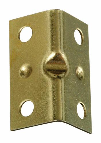 National Hardware  Inside  Corner Brace  1-1//2 x 3//4  Steel-Brass Plated