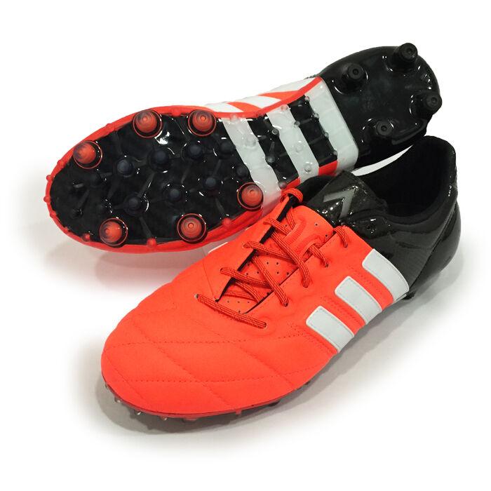 Adidas Ace 15.1 Fg Ag Leder Orange Schwarz Herren Fußball Stollen B32820