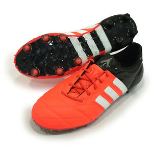 online store aeb1b 5f7d9 Details about Adidas Ace 15.1 FG/AG Leather Orange Black Men's Soccer  Cleats B32820 Size 6.5