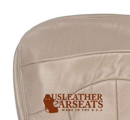 2001 2002 Ford F150 XLT Lariat Super Crew Driver Bottom Leather Seat Cover Tan