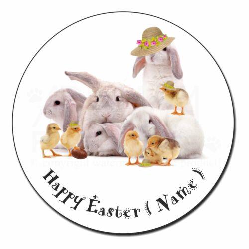 EASTER-P1FM Personalised Rabbits+Chicks Fridge Magnet Stocking Filler Christmas