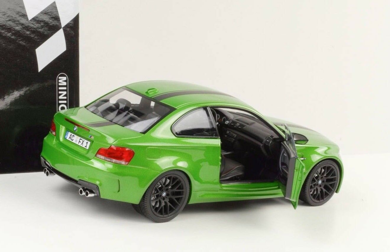 Bmw m e82 1 coupe 2011 grüne mamba 1,18 minichamps druckguss