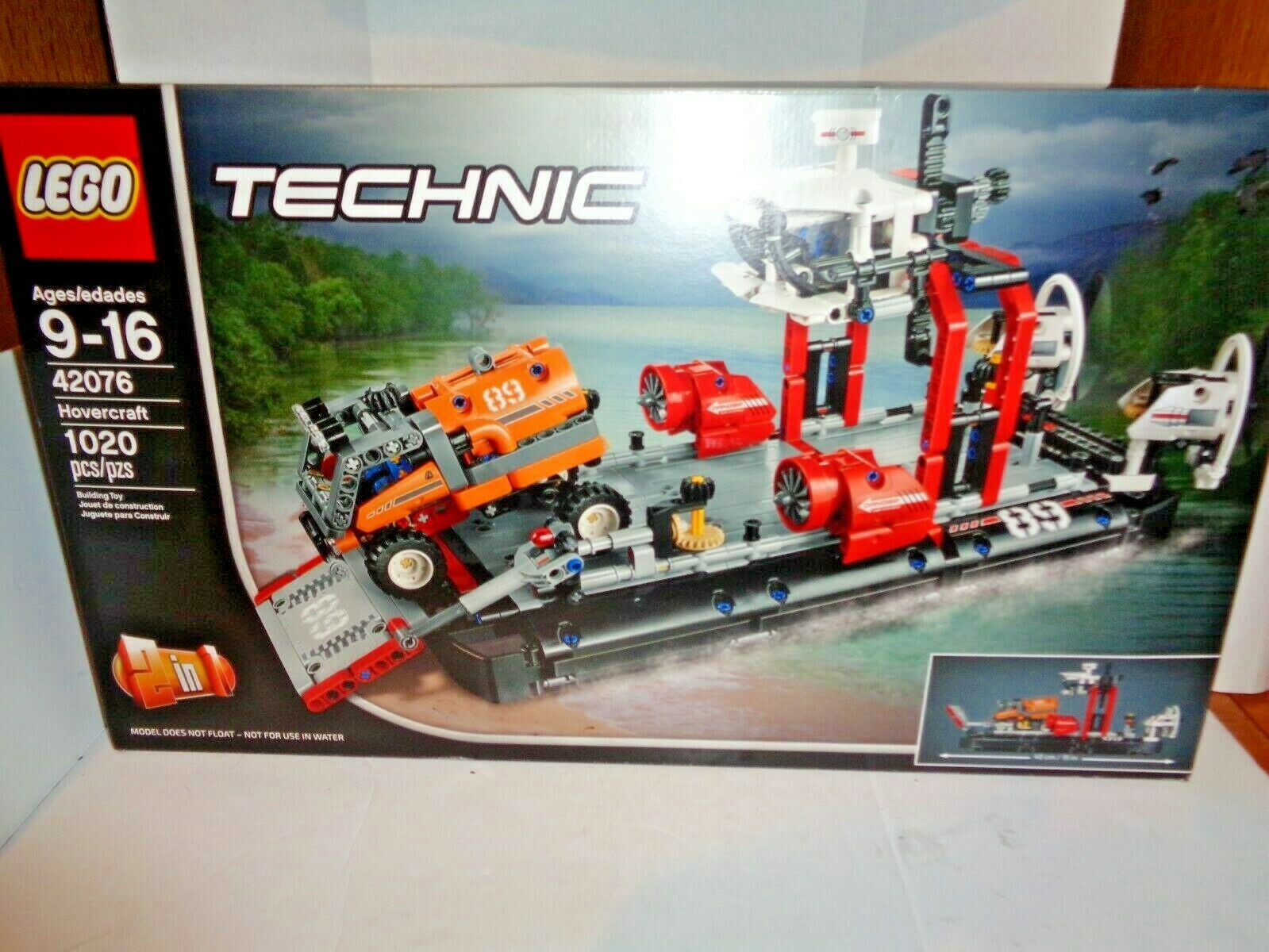Lego Technic Set 42076 Hovercraft 1020 Bitar