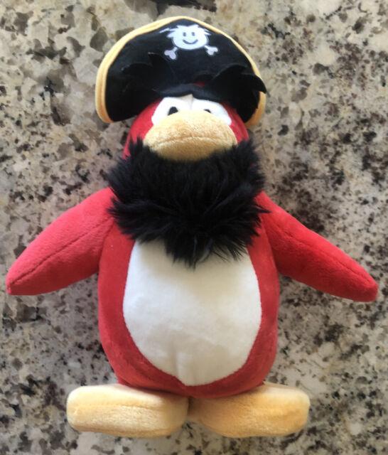 Disney Club Penguin Keychain 2 Inch Plush Puffle Red Toy