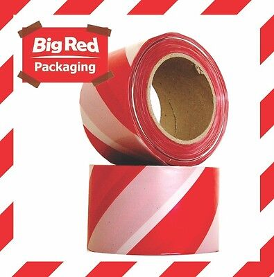Red and White Draper Hardware 66041 72 mm x 500 m Barrier Tape