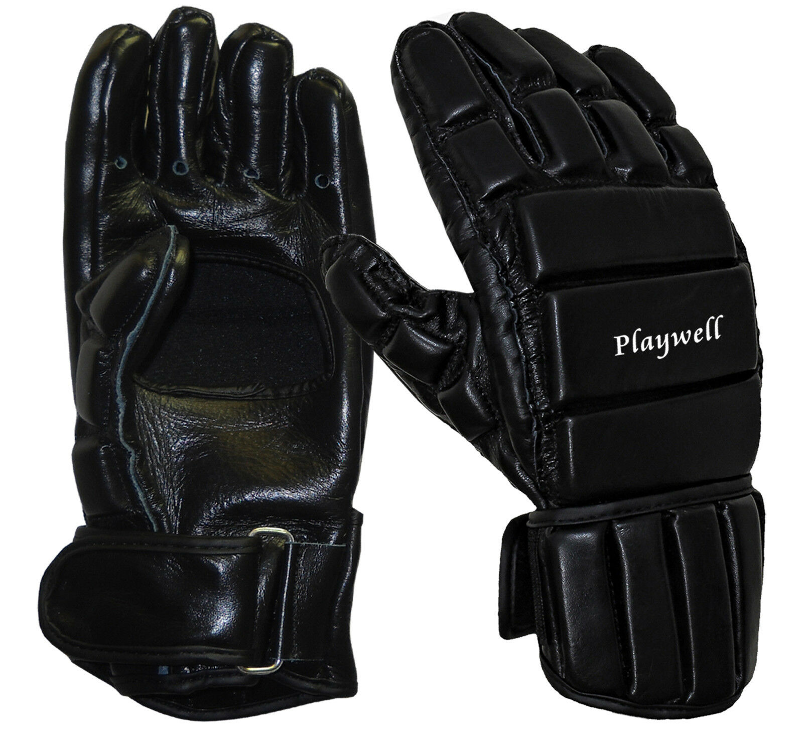 Details about Playwell Full Contact Leather Escrima Gloves Stick Fighting  Kali Mitts Training