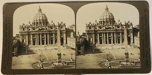 Roma Place Saint-Pierre Italia Foto Stereo P49p1n Vintage Analogica 1902