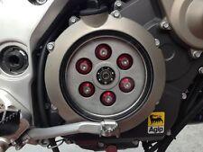 Aprilia Dorsoduro 750 Clutch Cover Kit 08-12 (Red & Sliver) Stainless Steel