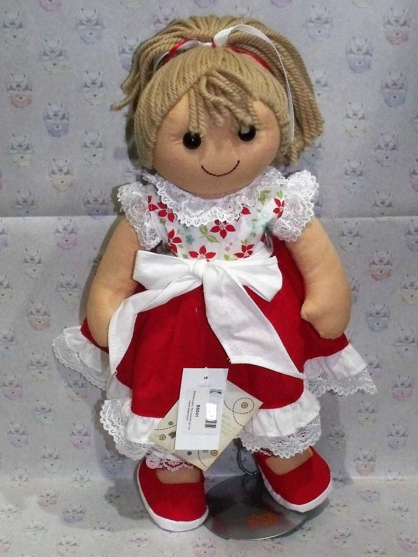 My bambola  Bambola abito fiori Coloreeeati gonna rossa balza pizzo. nuovo 2019 42 cm.  prima qualità ai consumatori