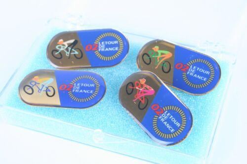 2002 le Tour de France Lapel Pins 4 Pack New Cyclisme Jaune Maillot vert vintage