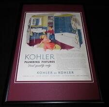 1955 Kohler Bathroom Plumbing Framed 12x18 ORIGINAL Advertisement