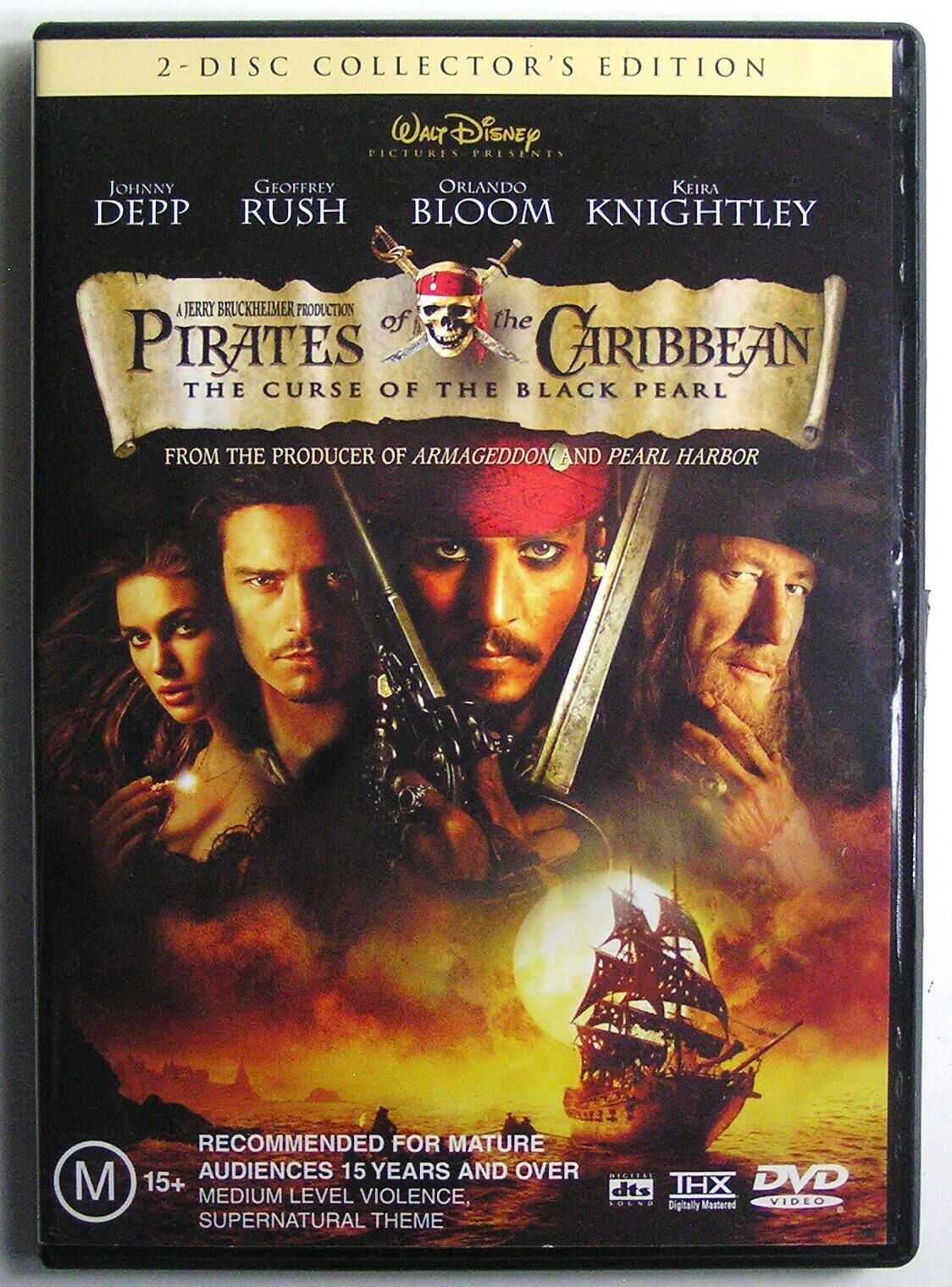 Pirates Of The Caribbean The Curse Of The Black Pearl 2003 Dvd Movie 2 Disc For Sale Online