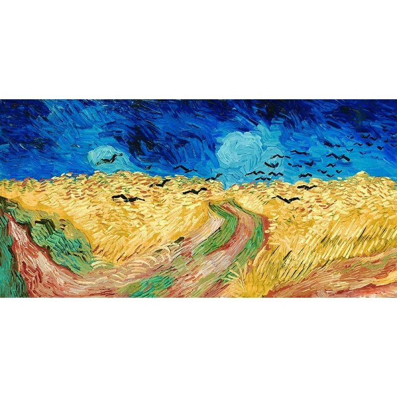 Quadro su Pannello in Legno MDF Crows Vincent Van Gogh Wheat Field   Crows MDF 00959f