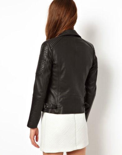 fine moto cuir femmes élégante et pour Veste de 100 Merci moda ZfxTqwx4