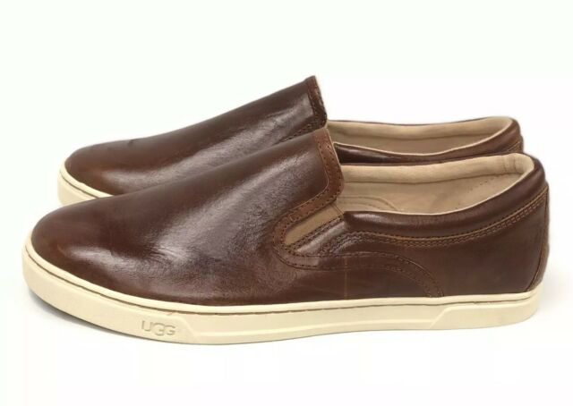 9782c58dde8 Ugg Australia Fierce Leather Slip On Sneakers Chestnut Loafers Shoes 1015460