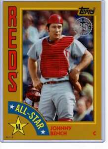 Johnny-Bench-2019-Topps-1984-Topps-All-Stars-Oversize-5x7-Gold-84AS-JBE-10-Red