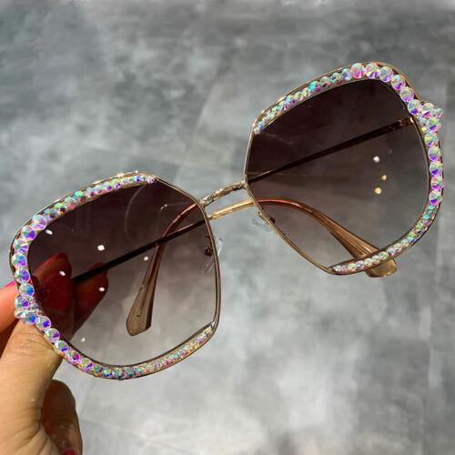 Women/'s Sunglasses Luxury Rhinestone Square Sun Glasses Oversized Retro