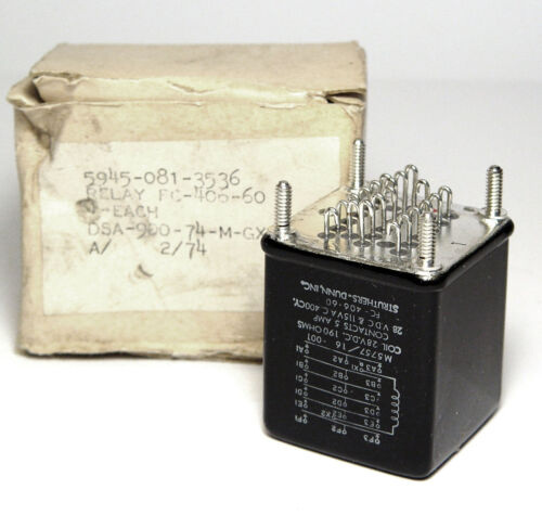 28 VDC // 190 Ohm 6x UM MIL NOS Struthers-Dunn Corp Relais M5757//16-001