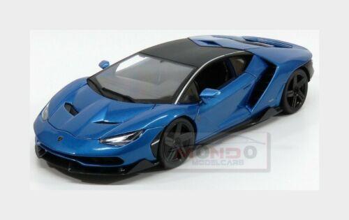 Lamborghini Centenario Lp770-4 2016 Blue Met Black MAISTO 1:18 MI31386BL