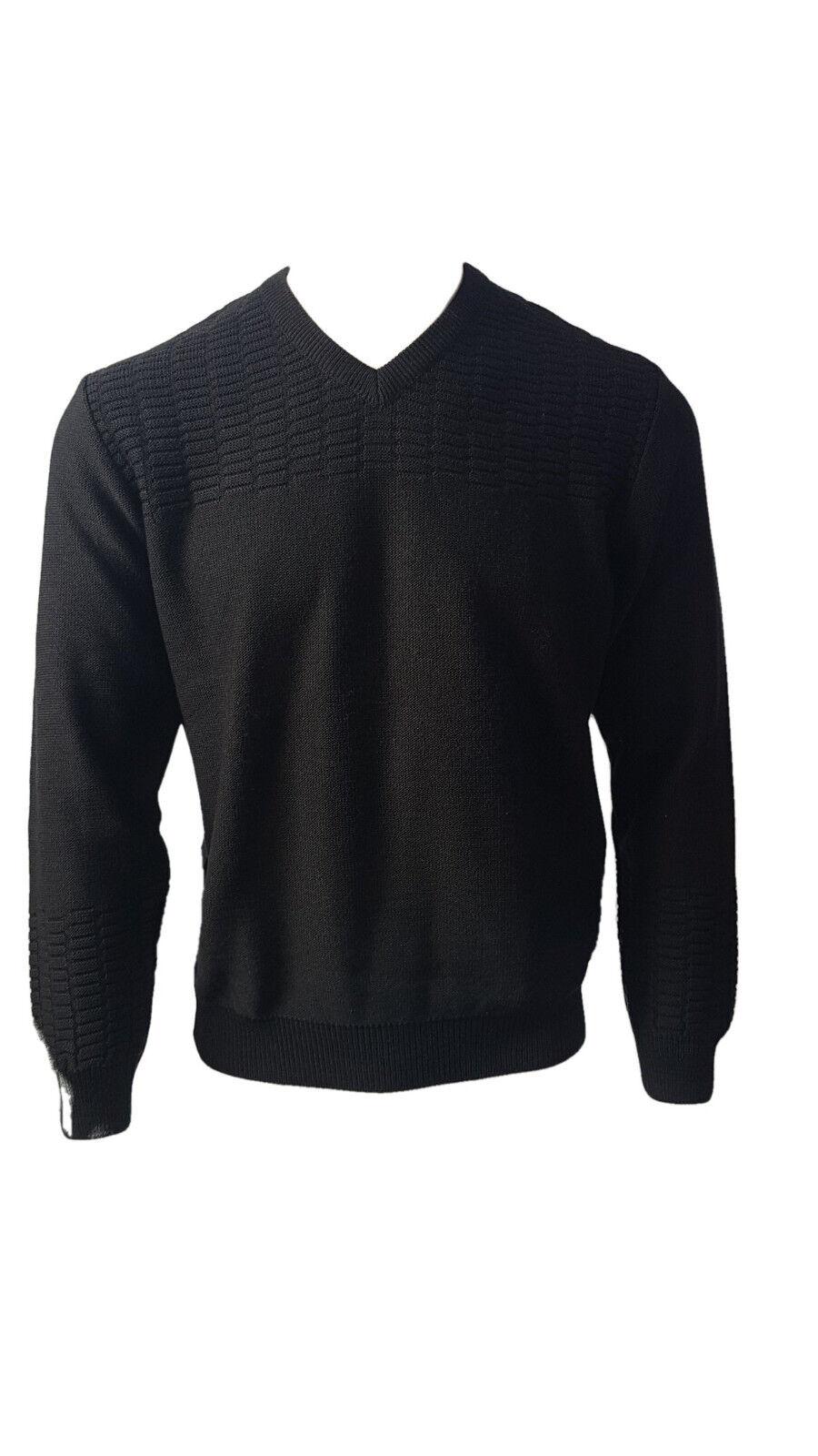 Pull BERAC col en V maille jersey 3165 noir T. 7 (XXXL) Prix. Maga.