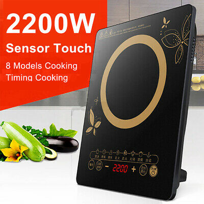 Details about  AU Portable 2200W Electric Induction Cooktop Hotplate Kitchen Cooker Hot Plate