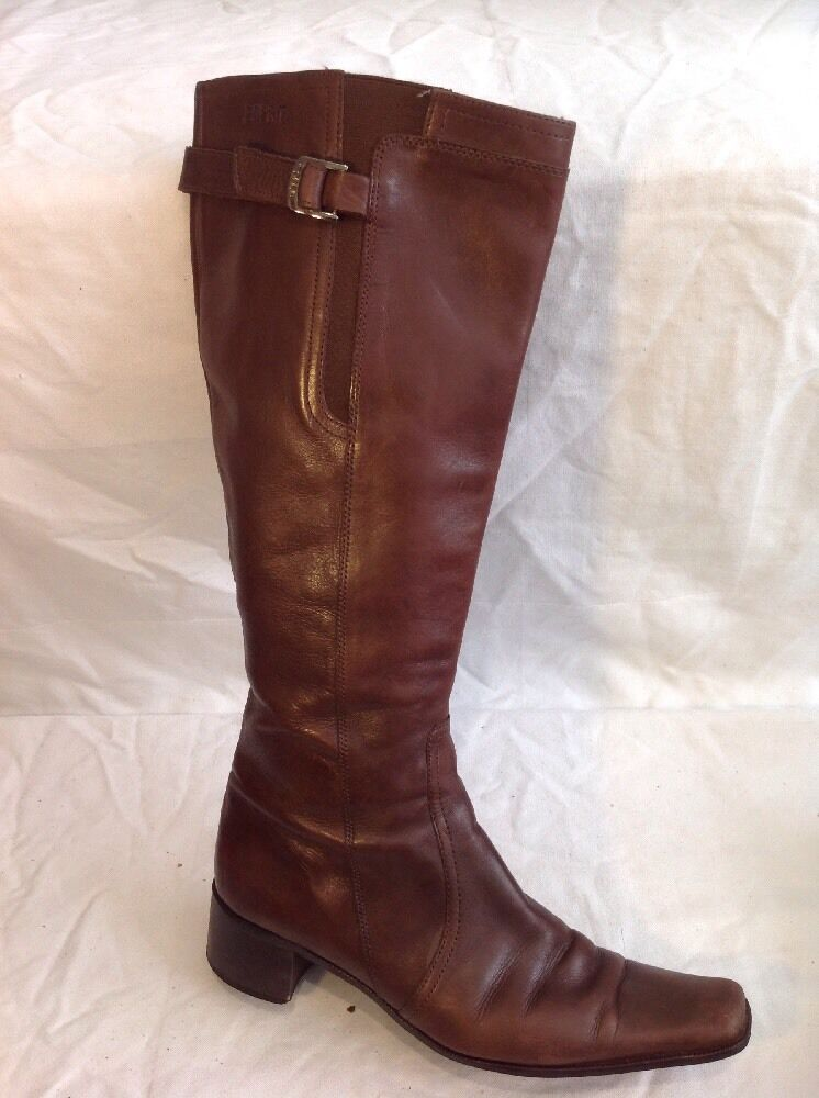 Esprit Brown Knee High Leather Boots Size 39