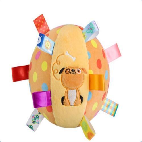 Colorful Ball Bell Soft Hand Grasp Music Sense Baby Kids Educational Plush Toys