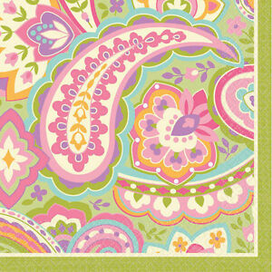 Paper Beverage Napkins Pretty Paisley Made In Usa
