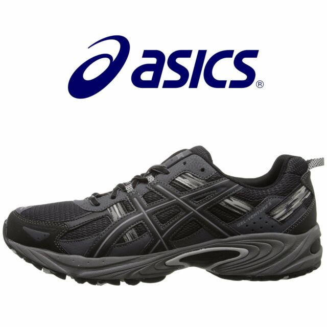 0942dd41 ASICS Men's GEL Venture 5 Running Shoe, Black/Onyx/Charcoal, 13 4E US